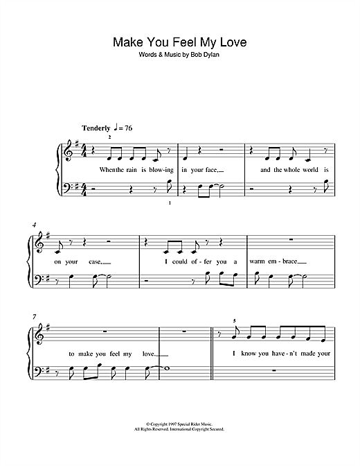 Notes how to play where my love on piano