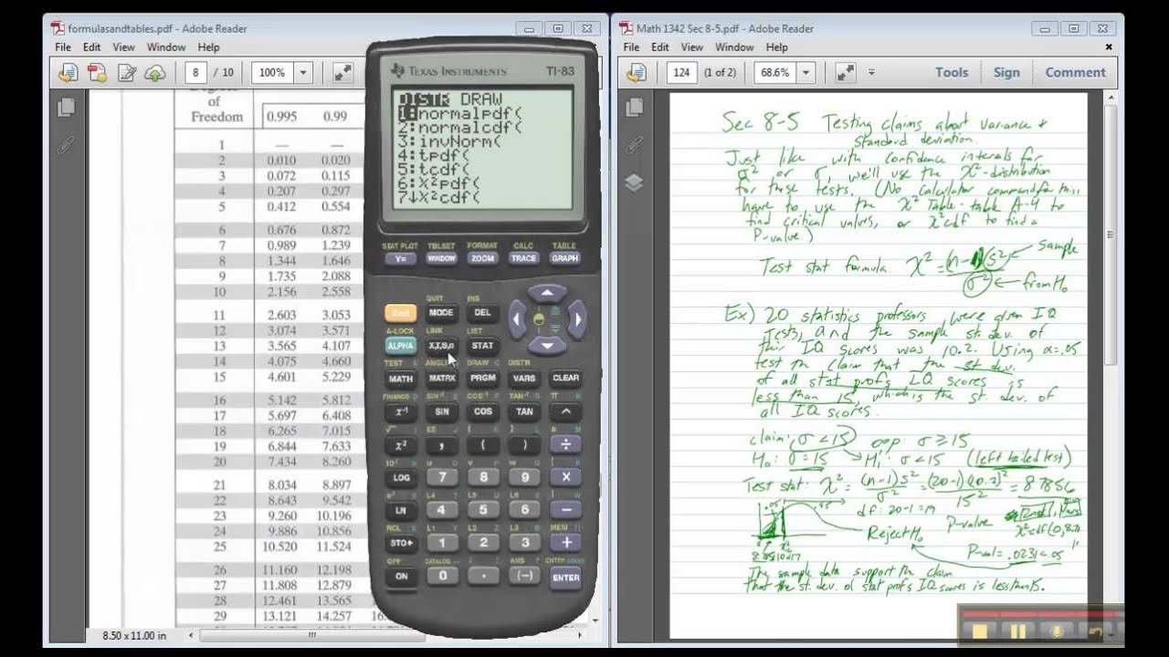 degrees of freedom t chart calculator instructions