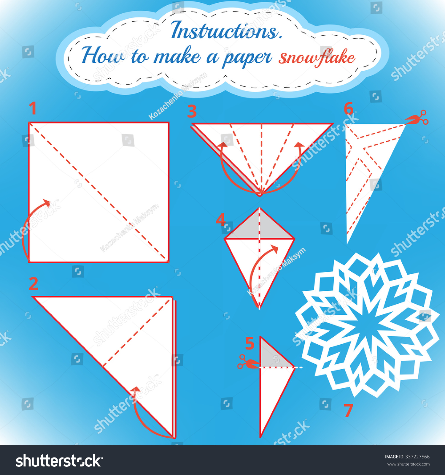 Easy paper snowflakes instructions