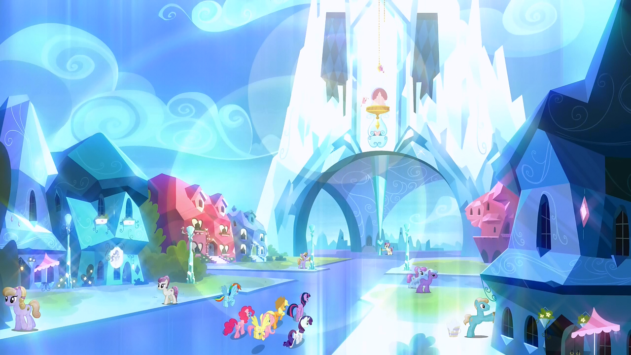 my little pony crystal empire castles instructions