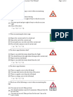 Learners licence questions and answers pdf download