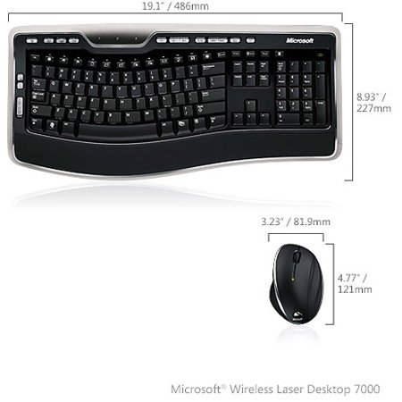 Microsoft wireless laser mouse 7000 how to connect