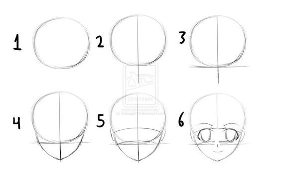 anime drawing step by step instructions