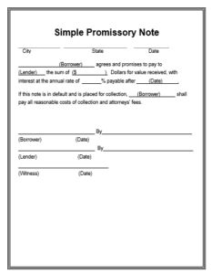 Promissory note format indian law pdf