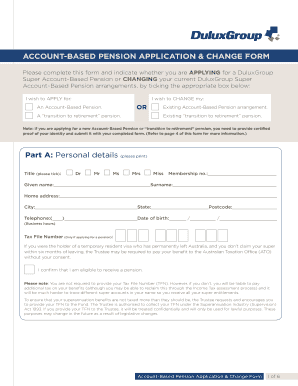 Help me fill in a centrelink pension application
