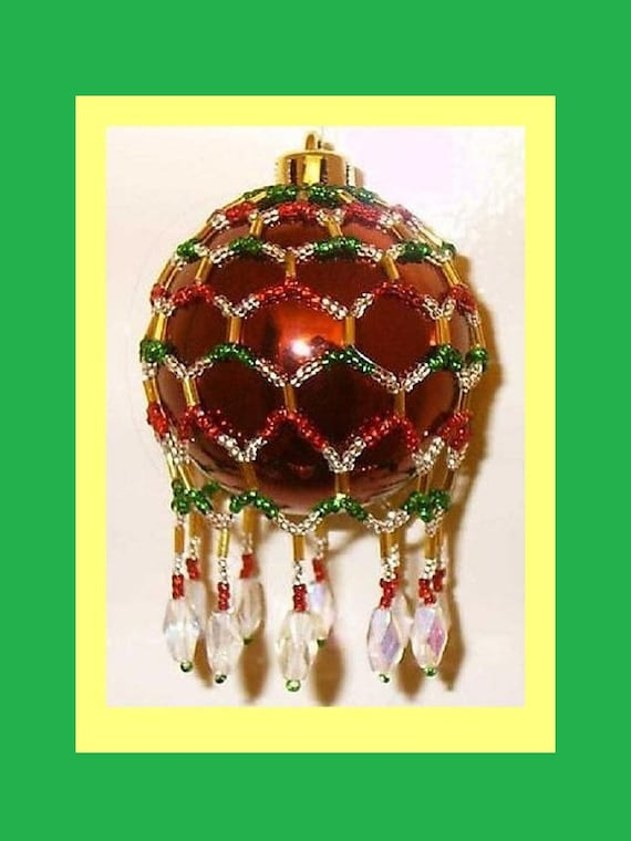 instructions for beaded christmas ornaments
