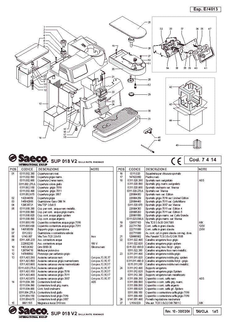 Saeco vienna deluxe user manual